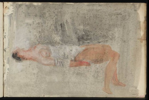 Recumbent Figure circa 1844-5 Joseph Mallord William Turner 1775-1851 Accepted by the nation as part of the Turner Bequest 1856 http://www.tate.org.uk/art/work/D35257