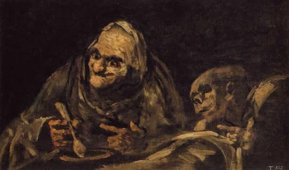 2D- goya-due-vecchi-che-mangiano-1820-23-Madrid-Museo-del-prado
