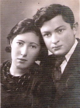 Adina and Moishe Shochot. She was killed in Moletai, he in Utena, 1941