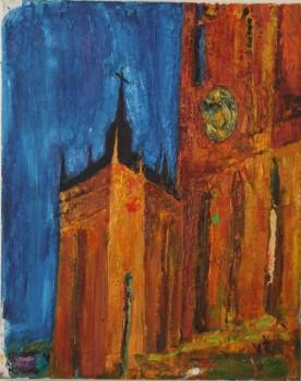 Antwerpeno katedros koplyčia. Naktis. 2015
