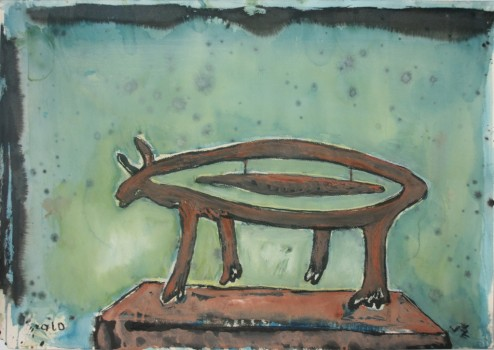 Gyvulys. Piešinys skulptūrai. 2010