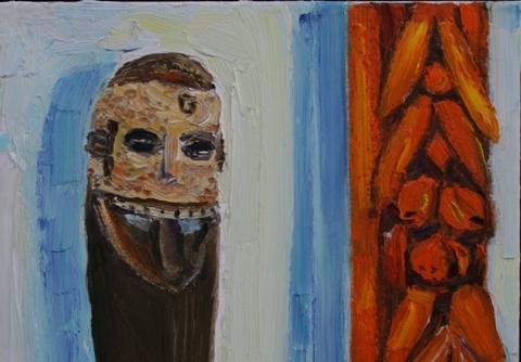 IV Afrikietiška kaukė ir rėmas. 2013. Wolvertemas a