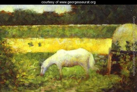 seurat-landscape-with-a-horse.